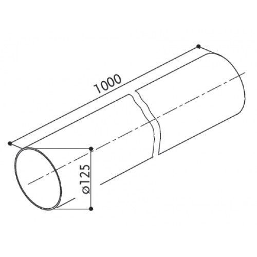 Tubo diametro intero 12, da cm 100 plastica bianco 112.0157.308  Faber
