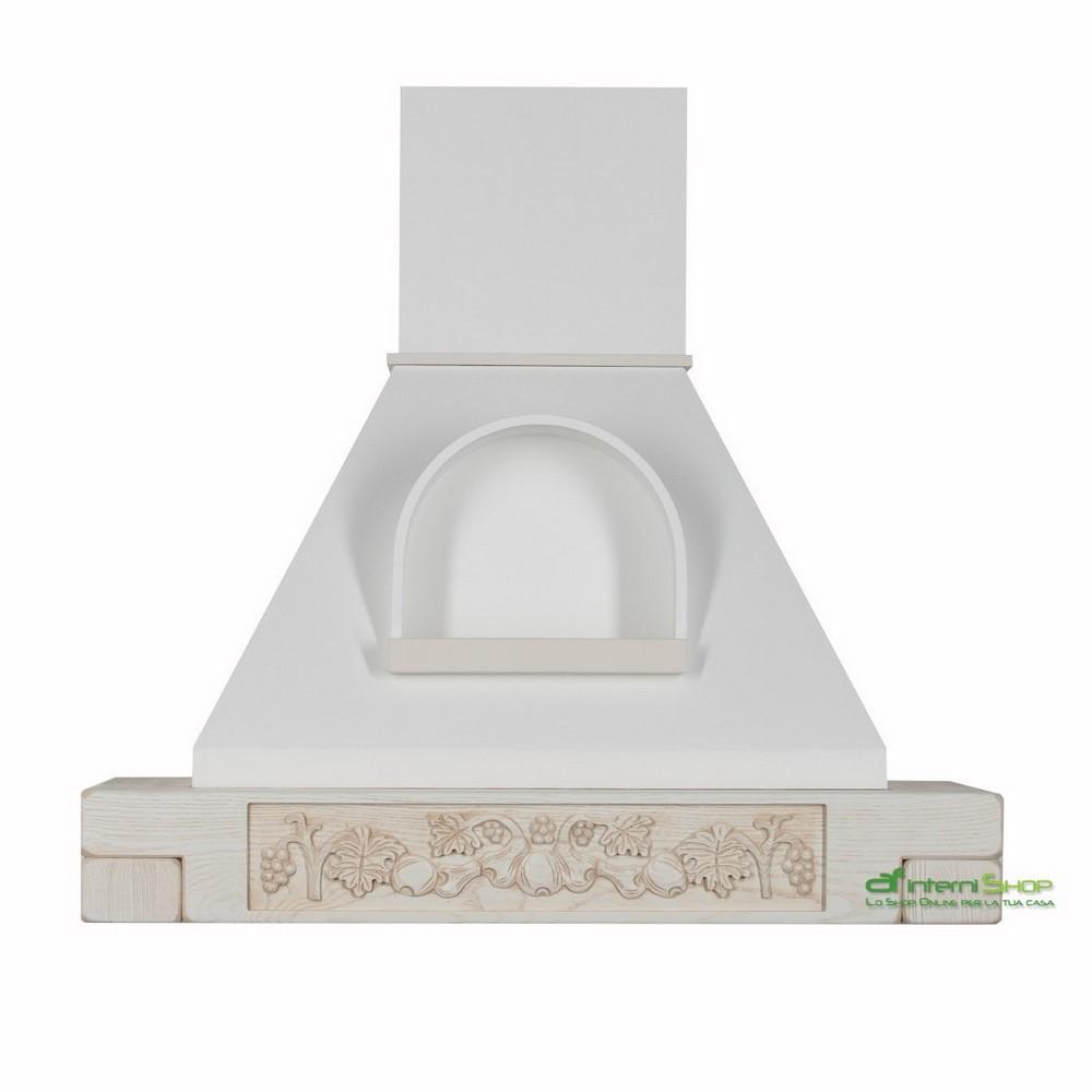 Cappa classica FRUTTA INTAGLIO A MANO 90 frassino bianco decape