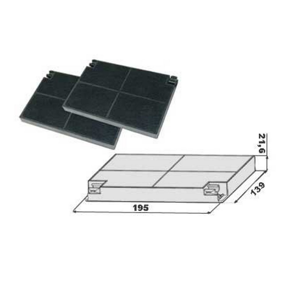 Activated carbon filter 112.0157.242 compatible inca smart Faber