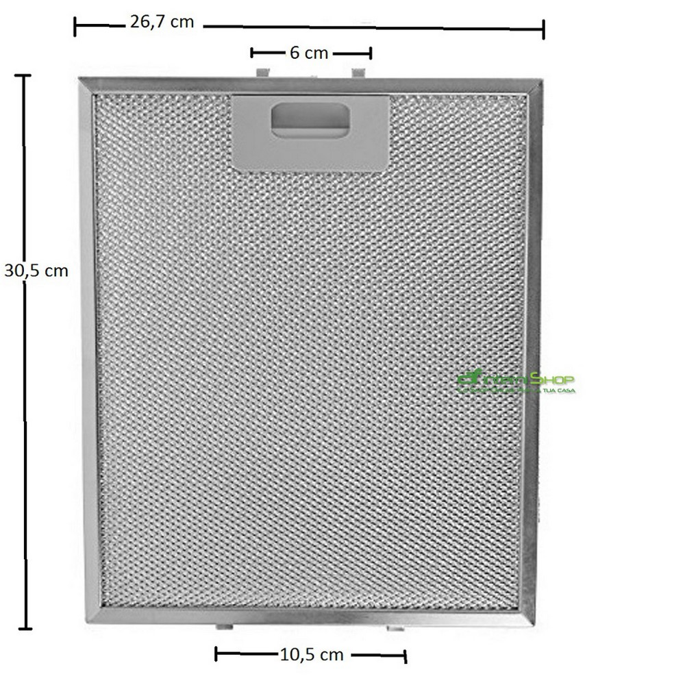 metal mesh filter 26,7x30,5 Charterhouse with hooks