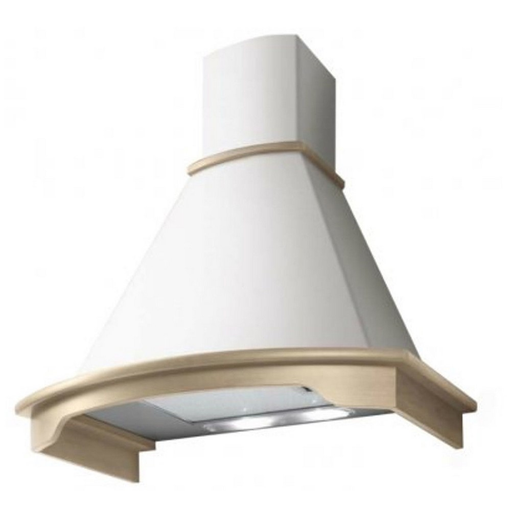 Denver Rustic kitchen hood 90 ELICA raw wood fascia white cone