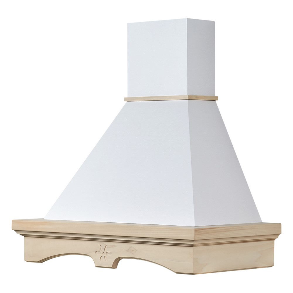 AGNESE 90 Kitchen hood raw toulipier wood, white cone B52 engine
