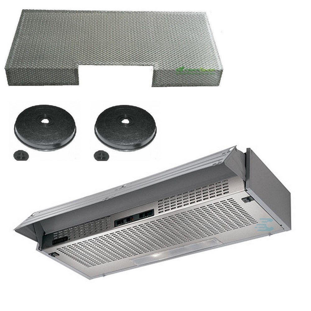 Faber hood 60 under-cabinet with metal mesh + 2 carbon filter